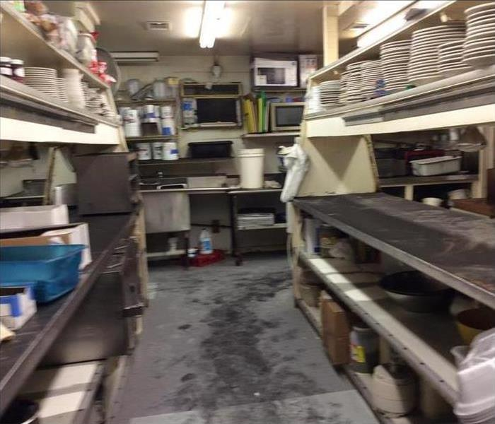 commercial kitchen after fire damage